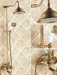 cheap -Shower Faucet - Antique Antique Copper Centerset Ceramic Valve