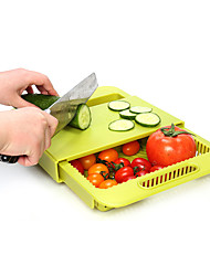 cheap -1Pcs  Multifunction Chopping Blocks Kitchen Drain Basket Chopping Board Non-Slip Frosted Antibacteria Kitchen Cutting Board