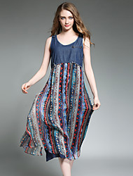 cheap -Maxlindy Women's Going out / Party/Holiday Vintage / Street chic /Loose fit Dress