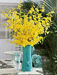 1 Une succursale Soie Autres Chrysanthème Fleur de Table Fleurs artificielles