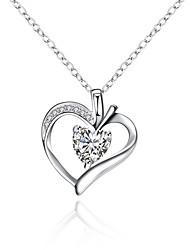 Femme Pendentif de collier Colliers chaînes Zircon cubique Forme de Coeur Forme Géométrique Zircon Cuivre Plaqué argentBasique Original