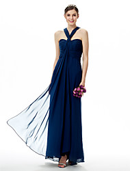 cheap -Sheath / Column Sweetheart Straps Floor Length Chiffon Bridesmaid Dress with Ruching by LAN TING BRIDE®