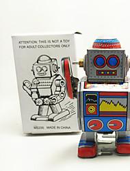 Недорогие -Робот Игрушка с заводом Игрушки Робот Металл 1 Куски Детские Подарок