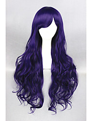 cheap -Synthetic Wig Curly Purple Women's Capless Cosplay Wig Long Synthetic Hair