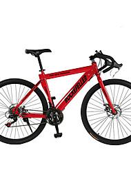 Недорогие -Дорожные велосипеды Велоспорт 21 Скорость 26 дюймы / 700CC SHIMANO TX30 Двойной дисковый тормоз Обычные Обычные Сталь