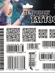 Temporary Tattoos Back Body Message Series 3D Rose Waterproof Tattoos Stickers Non Toxic Glitter Large Fake Tattoo Halloween Gift 22*15cm