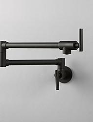 Недорогие -кухонный смеситель - Одной ручкой одно отверстие Окрашенные отделки Стандартный Носик / Высокий / High Arc / Горшок Filler На стену Современный / Ар деко / Ретро / Modern