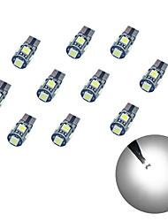 10pcs t10 5 * 5050 smd tableau de décodage led voiture ampoule lumière blanche dc12v