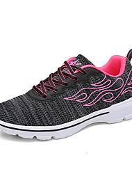 Недорогие --Для женщин-Для прогулок Повседневный Для занятий спортом-Тюль-На плоской подошве-Удобная обувь Туфли Мери-Джейн Пара обуви-Кеды