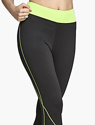 Women's Running Tights Gym Leggings Breathable Soft Comfortable Bottoms for Yoga Exercise & Fitness Leisure Sports Running Polyester Tight