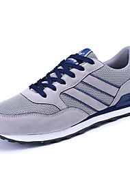 cheap -Men's Shoes PU Leatherette Spring Fall Comfort Sneakers Walking Shoes For Casual Gray Blue