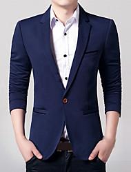 Men's Long Sleeve Regular Blazer , Acrylic / Polyester Pure k058