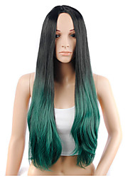 Synthetic Ombre Wig for Black Women Long Wavy Ombre Hair 28inch 290g 9077 R2/2610#