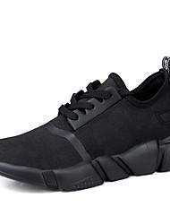 abordables -Homme Chaussures Tulle Printemps Automne Confort Basket Marche Lacet pour Athlétique Décontracté Bureau et carrière Noir Noir/blanc
