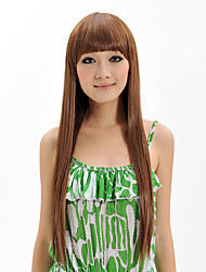 cheap -Top Quality Wig Long Straight Synthetic Wigs With Neat Bangs Women Party Wig