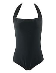 Mulheres Maiô Cintura-Alta Com Laço Nadador Acrílico Elastano Mulheres
