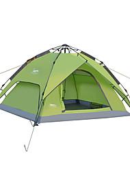 billiga Sport och friluftsliv-DesertFox® 3-4 personer Tält Dubbelt lager Tält Ett Rum  Utomhus Regnsäker 2000-3000 mm  för Camping oxford / Vattentät / Vattentät