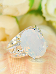 cheap -Statement Rings Moonstone Fashion Silver Jewelry Party