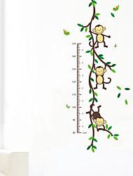Недорогие -Животные Музыка Наклейки Простые наклейки Линейка роста, Винил Украшение дома Наклейка на стену Стена
