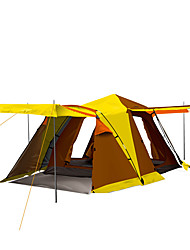 3-4 persone Tenda Doppio Tenda da campeggio Una camera Tenda ripiegabile Antiumidità Ompermeabile Antivento Anti-pioggia per