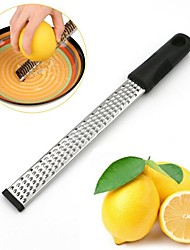 2Pc  Stainless Steel Lemon Zester Cheese And Spice Grater Bonus Brush Nutmeg  With Non-Slip Handle