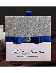 Wrap & Pocket Wedding Invitations 50-Invitation Cards Modern Style Pearl Paper