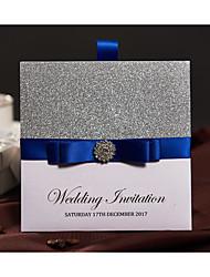 Embrulhado e de Bolso Convites de casamento 50-Cartões de convite Estilo Moderno Papel Acetinado