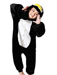 cheap -Kid's Kigurumi Pajamas Penguin Onesie Pajamas Costume Flannel Toison Black Cosplay For Animal Sleepwear Cartoon Halloween Festival / Holiday / Christmas