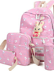 cheap -Women Bags Canvas School Bag for Casual Sports All Seasons Black Blushing Pink Pale Pink LightBlue Amethyst
