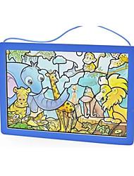 economico -Adesivi Puzzle Modellini di legno Giocattoli Quadrato Cristallo Legno Vetro Per bambini 100 Pezzi