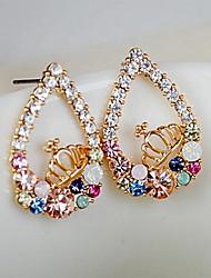 Women's Stud Earrings Drop Earrings Rhinestone Basic Unique Design Logo Style Friendship Gothic Vintage Africa Bohemian Simple Style Punk