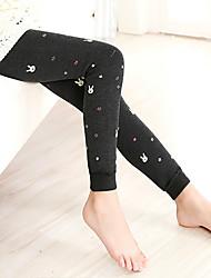 cheap -Girls' Daily Solid Polka Dot Pants, Rayon Winter Spring Fall Black Dark Gray Wine