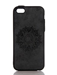 Para En Relieve Funda Cubierta Trasera Funda Mandala Dura Cuero Sintético para AppleiPhone 7 Plus iPhone 7 iPhone 6s Plus iPhone 6 Plus