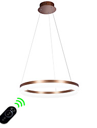Dimmable Led Pendant Light/ 60cm Rings Ceiling Light/Modern/Contemporary/ Metal Arcylic Brushed Coffee/Gold/White