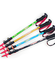 cheap -3 Nordic Walking Poles 135cm (53 Inches) Damping Foldable Light Weight Adjustable Fit Aluminum Alloy Camping & Hiking Snowshoeing