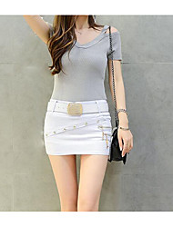 Women's Casual/Daily Mini Skirts Bodycon Pure Color Solid Summer