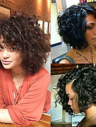 Premier Short Curly Wigs 8A Curly Explosion Head Wig Virgin Human Hair Lace Front Wig Natural Color Unprocessed Virgin Brazilian Hair Wigs
