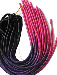cheap -Dread Locks Hair Braid Ombre Braiding Faux Locs 20 Roots/pack 100% Kanekalon