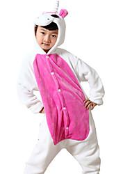 kigurumi Pyjamas Unicorn Costume Rose Collant / Combinaison Fête / Célébration Pyjamas Animale Halloween Motif Animal Costumes de Cosplay