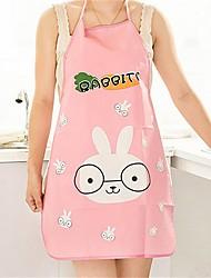 1Pcs   Nice Monther Gift Mommy Love Hot Women Cute Cartoon Waterproof Apron Kitchen Restaurant Cooking Bib Aprons