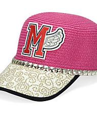 cheap -Straw Baseball Cap Cartoon Cap Sunshade Women's Summer Sea Beach Hat
