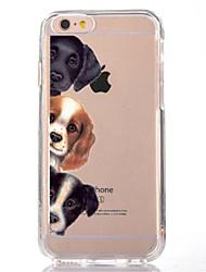 Per iPhone X iPhone 8 Custodie cover Transparente Fantasia/disegno Custodia posteriore Custodia Con cagnolino Morbido TPU per Apple