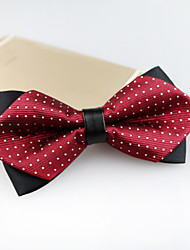 cheap -Men's Polyester Bow Tie,Vintage Cute Party Work Casual Jacquard All Seasons Wine