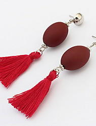 Women's Girls' Drop Earrings Jewelry Basic Unique Design Tassel Classic Sexy Elegant Fashion Costume Jewelry Vintage Punk Adorable