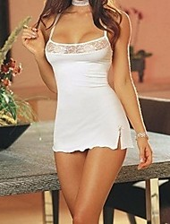 Women's Sexy White Chemises & Gowns With Panties