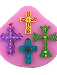 1Pcs Crosses Shaped Silicone Mold Cake Decoration Fondant Cake 3D Mold Food Grade Silicone Mould