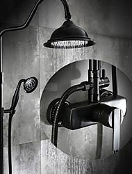 abordables -Robinet de douche - Antique Bronze huilé Set de centre Soupape céramique