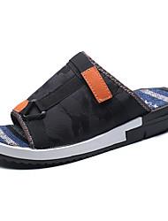 economico -Da uomo-Pantofole e infradito-Casual-Comoda-Piatto-PU (Poliuretano)-Bianco Nero Blu marino Blu Schermo a colori
