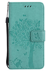 For Samsung Galaxy PU Leather Cat and Tree Pattern Phone Case J5 Prime J3 Prime J710 J510 J310