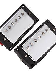 2PCS 1 set Chrome Plated Humbucker Pickups For SG LP Guitar
